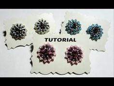 "DIY Video Tutorial Orecchini ""Punto Luce"" perline swarovski (beadwork) - YouTube"