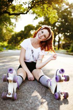 Me (Photo taken by my Brother - Roller Derby, Roller Quad, Retro Roller Skates, Roller Disco, Roller Skating Pictures, Skate Photos, Mode Glamour, Skate Girl, Snowboard