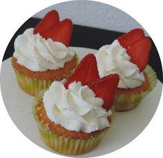 cupcakes fraises citron chantilly