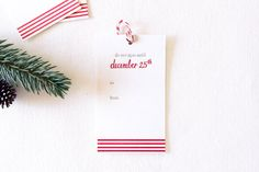 christmas gift tag by paperlovelypress