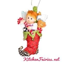 Fairie Stocking Ornament - From Series Nineteen of the My Little Kitchen Fairies collection
