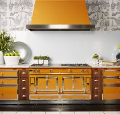The La Cornue Grand Palais 180 commands respect and admiration in any kitchen. Add this bold look to your kitchen today.