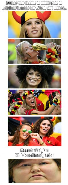 Belgian World Cup Babes