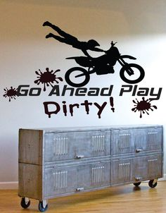 Vinyl Decal Motocross  Motorcycle  Dirtbike Quote by SignJunkies, $43.95
