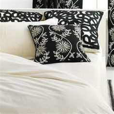 Ruched Ribbon Black Decorative Pillows http://rstyle.me/n/fquyjr9te