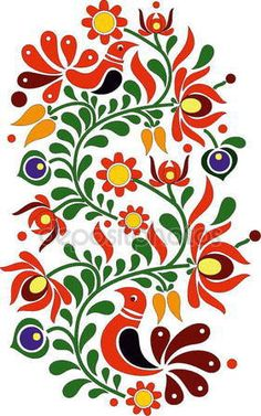 Find Hungarian Folk Art stock images in HD and millions of other royalty-free stock photos, illustrations and vectors in the Shutterstock collection. Mexican Embroidery, Hungarian Embroidery, Folk Embroidery, Embroidery Patterns, Folk Art Flowers, Flower Art, Painting Patterns, Fabric Painting, Painting Tips
