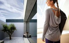 home becomes her: Lululemon athletic wear and zen spacesTranquil contemplation - I love how you can make a zen like garden escape in a city courtyard. Stay connected to nature in an urban sanctuary. Image credits: Dreamfunhouse and Lululemon Pullover Zen Space, Group Fitness, Boyfriend Tee, Sport Wear, Athletic Wear, Lululemon, Urban, Pullover, City