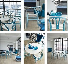 Nice concept: A different blue per chair, great chairs
