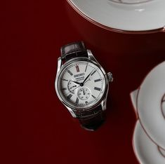 The heritage of Arita porcelain is respected in the color of the dials, white wi. Rolex, Seiko Presage, Made In Japan, Seiko Watches, The Prestige, Omega Watch, Craftsman, Markers, Watches For Men