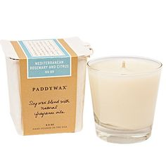 scented soy wax candle.