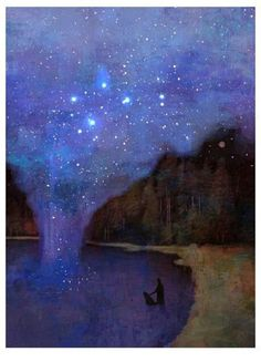 Ouvrages D'art, Art And Illustration, Nocturne, Pics Art, Painting & Drawing, Dream Painting, Lake Painting, Art Inspo, Amazing Art
