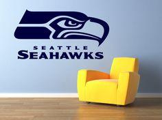 Seattle Seahawks Premium Removable Wall Art Decor Decal Vinyl Sticker Salon Mural Sports NFL Football