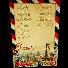 Lámina para exponer sobre Francia. #misdibujos #misdiseños #lamina #exposicion #exponer #recursosparaeleducador #recursosparaestudiantes #herramientasparaelmaestro #maestra #profesor #didáctica #pedagogía
