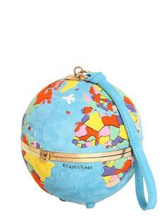 Olympia Le-Tan - #Globe Clutch in suede - lvr.com #springsummer2015