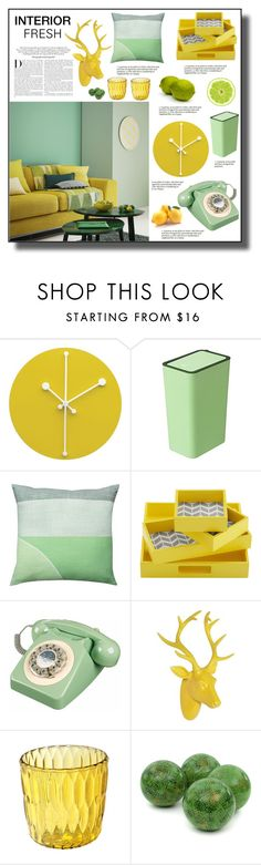 """FRESH INTERIOR"" by mariarty ❤ liked on Polyvore featuring interior, interiors, interior design, home, home decor, interior decorating, Alessi, Intelligent Design, Karl Lagerfeld and Kartell"