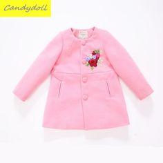New arrival Winter Children's Clothing Thickening Cotton Girl Fur Coat Long Warm Children's Coat  Girls Woolen Overcoat 6-11Y