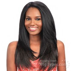 Model Model Synthetic Hair U Curve Lace Front Wig - SAGE (5 X 4 Parting Versatility) [10874]