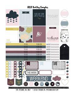 Free Planner Sticker Printable: Bad Day Sampler for the Vertical Erin Condren Life Planner