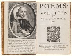 Shakespeare, William POEMS: WRITTEN BY WIL. SHAKE-SPEARE. GENT. LONDON: PRINTED BY THO. COTES, AND ARE TO BE SOLD BY JOHN BENSON, DWELLING IN ST. DUNSTANS CHURCH-YARD, 1640 Estimate 150,000 — 200,000 USD
