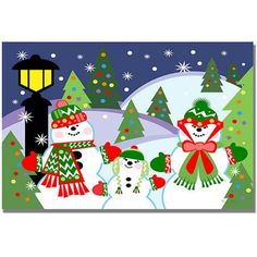 Trademark Art Let it Snow Canvas Wall Art by Grace Riely, Size: 18 x 24, Multicolor