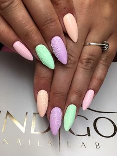 Gel Polish New Colour Collection by Natalia Siwiec! Nails Inspiration from Katarzyna Stachura, Indigo Young Team #nails #nail #nailart #pastel #omg #wow #indigo #natalia #siwiec #pink #green #cool #hot