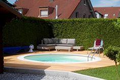 de - Build your own pool! We can help you with that! fairy gardens garden backyard garden cheap garden decorations garden stepping stones tropical garden hot tubs ideas for kids
