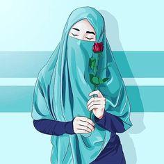 Image may contain: one or more people Quran Wallpaper, Islamic Wallpaper, Girl Cartoon, Cartoon Art, Hijab Drawing, Islamic Posters, Islamic Cartoon, Islam Women, Hijab Cartoon