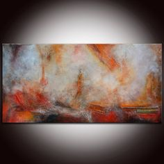 Abstract Painting Large Abstract Painting Textured by andrada, $1800.00