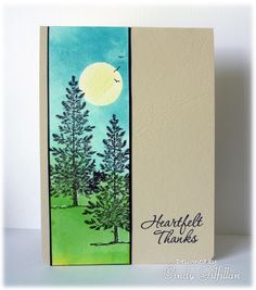Pine Trees in Sunlight by frenziedstamper - Cards and Paper Crafts at Splitcoaststampers