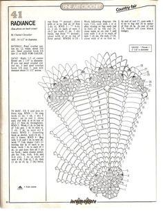 Magic Crochet n° 63 - leila tkd - Веб-альбомы Picasa Free Crochet Doily Patterns, Crochet Doily Diagram, Crochet Mandala, Crochet Art, Crochet Home, Thread Crochet, Filet Crochet, Crochet Designs, Crochet Dreamcatcher