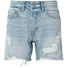 Planning a summer trip? Be sure to pack this transitional outfit combination on your next vacation. Shop the stylish essentials inside. Denim Shorts Style, Loose Shorts, Distressed Denim Shorts, Light Blue Shorts, Light Denim, Outfit Combinations, Short Skirts, Fashion Online, How To Wear