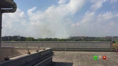 Incendio di sterpaglie in zona Muratella - intervento degli elicotteri -...