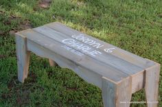 Guest Book Bench NAMES AND DATE Wedding Guest by TRUECONNECTION, $375.00