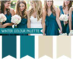 Winter Wedding Colour Palettes