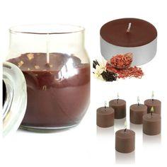 #Sandalwood & #Vanilla #ScentedCandles Collection. Glass #jarcandle  #scentedvotivecandles  #scentedtealights #homefragrance