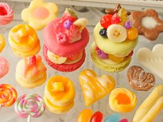 Candy Phone Cases, Clay Art, Mini Cupcakes, Cheesecake, Miniatures, Sweets, Board, Desserts, Handmade