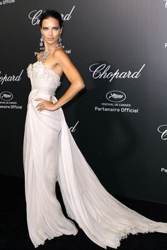 2014 -  Adriana Lima in Elie Saab at the Chopard Party in Cannes