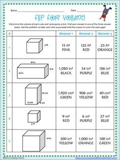 ... rectangular prism! Included are 10 questions, a coloring page and