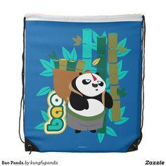 Shop Bao Panda Drawstring Bag created by kungfupanda. Kung Fu Panda 3, Bao, Panda Bear, Backpacks, Store, Link, Gifts, Backpack, Tent