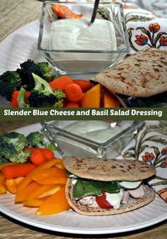 Slender Blue Cheese and Basil Salad Dressing-