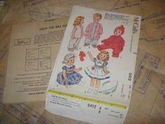 "ORIGINAL Doll Clothes PATTERN 2412 Tiny Tears Dydee Betsy Wetsy size 19"" to 21"" #McCalls"