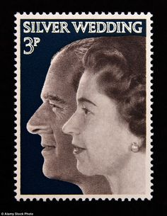 In 1972 a stamp was issued showing the profiles of the Queen and Duke of Edinburgh to celebrate their silver wedding anniversary - a quarter century of marriage