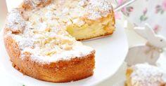 ein super saftiger Apfelkuchen mit Mandelblättchen und Puderzucker