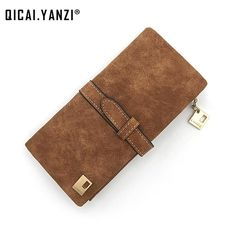 Wallets Women's Bags Alert Brand Envelope Clutch Wallet For Women Retro Purse Long Wallets Thin Scrub Leather Ladies Phone Card Holder Female Money Clip