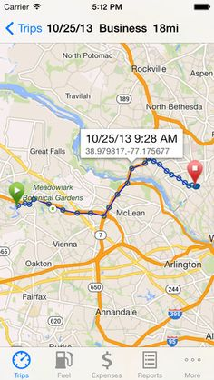 iphone gps mileage tracking app