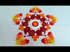 Unique and SIMPLE Rangoli Designs with colours Colorful Rangoli Designs, Kolam Designs, Simple Rangoli, Maya, Colours, Drawings, Unique, Artwork, Youtube