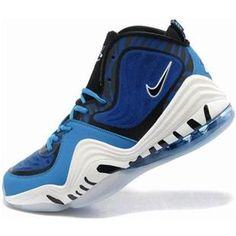 http://www.asneakers4u.com/ Nike Air Penny 5 Penny Hardaway Shoes Blue/Black/White