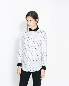 ZARA - WOMAN - COMBINED SHIRT-STYLE BLOUSE