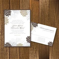 Pinecone and Branches Winter Wedding by PaperGoodiesbyKim on Etsy