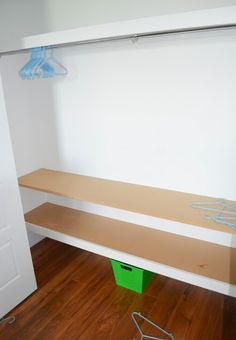 DIY Closet Upgrades - simple way to organize and make more room